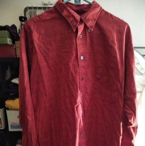 Other - MEN'S BURBERRY LONDON Red DRESS SHIRT
